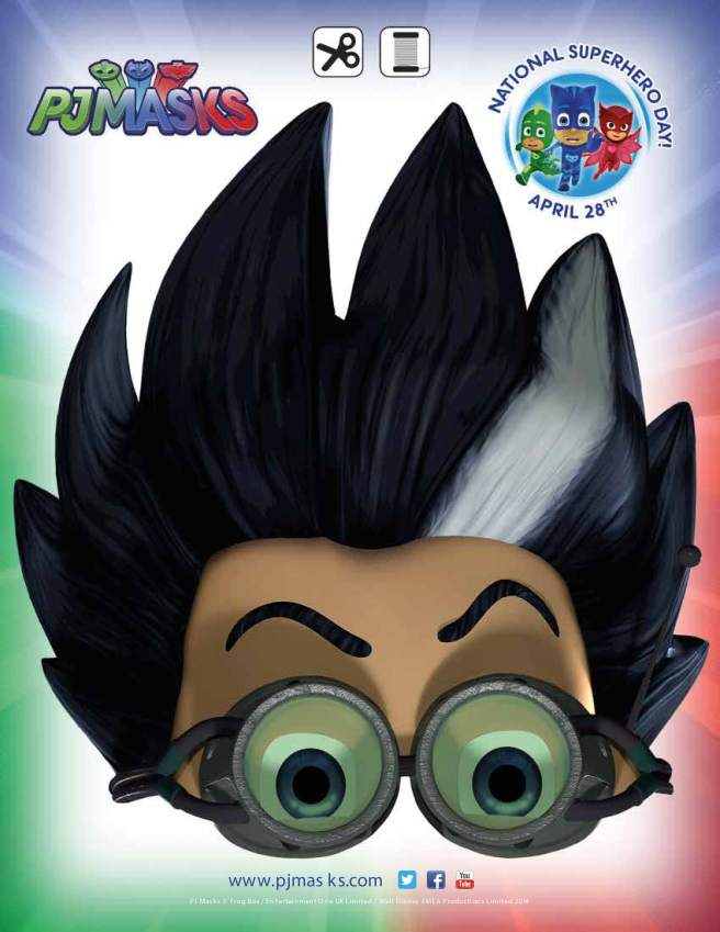 PJ Masks Party Printables Romeo Mask for FREE via Mandy's Party Printables