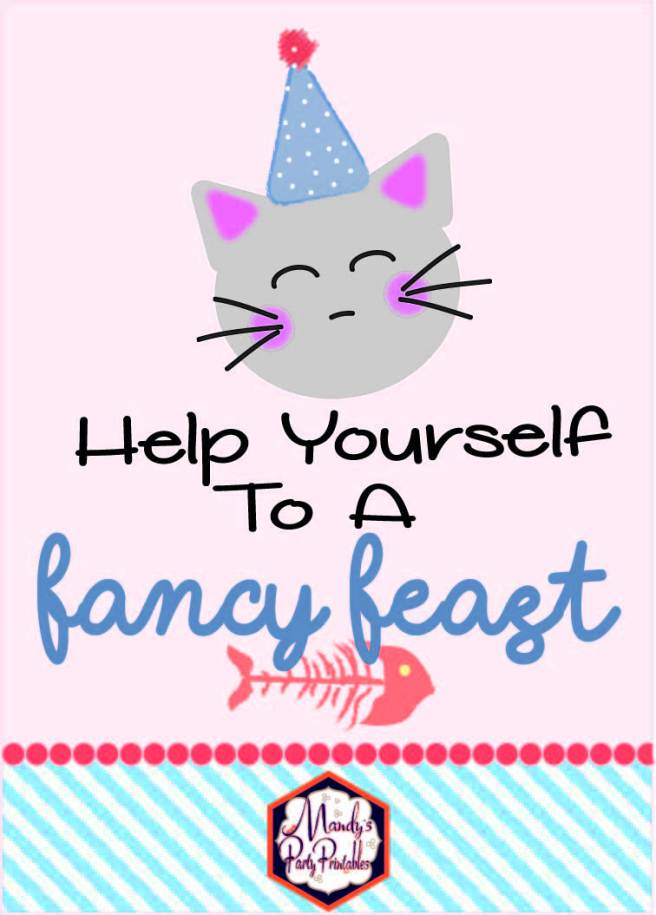 Free Kitten Birthday Party Printable via Mandy's Party Printables