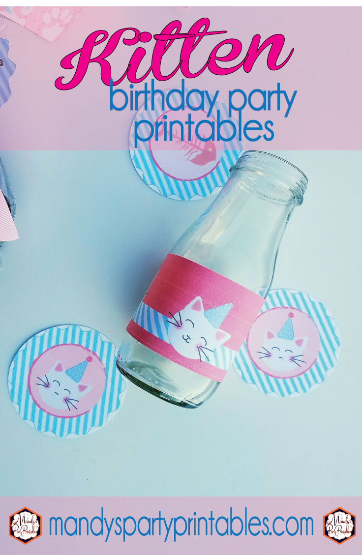 Free Kitty Party Cupcake Toppers Bottle Wrappers Invitation And More Via