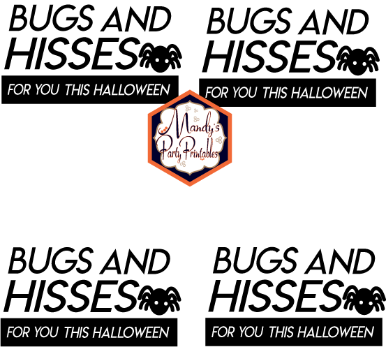 Bugs and Kisses Halloween Treatbag Toppers via Mandy's Party Printables