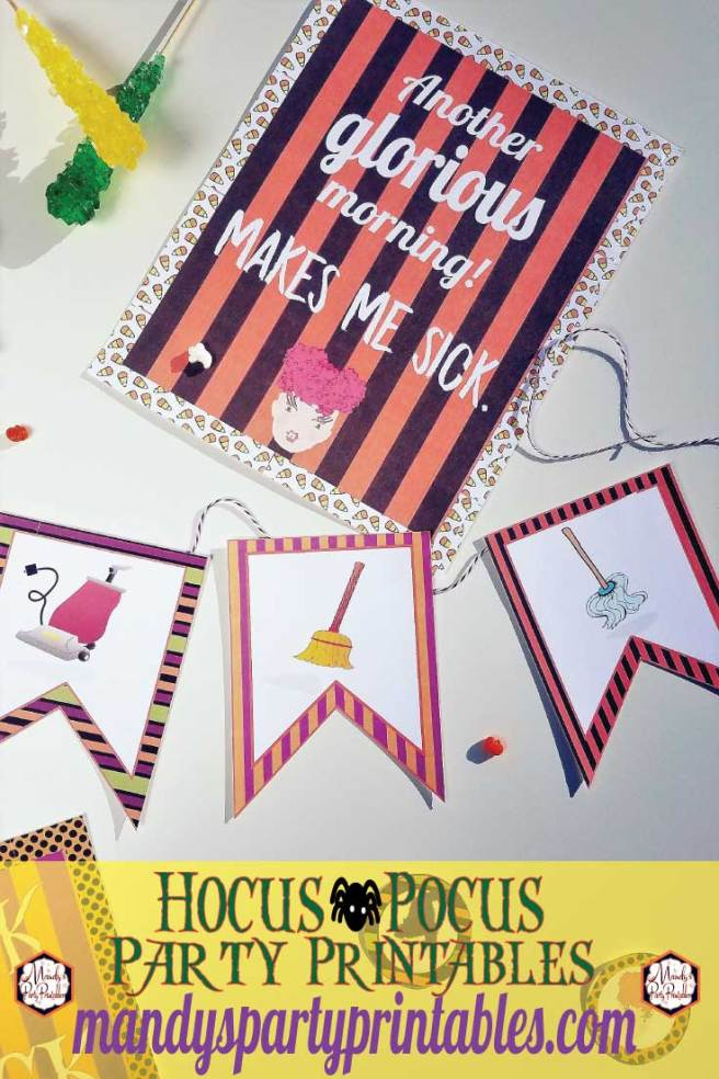 Free Hocus Pocus Printables via Mandy's Party Printables