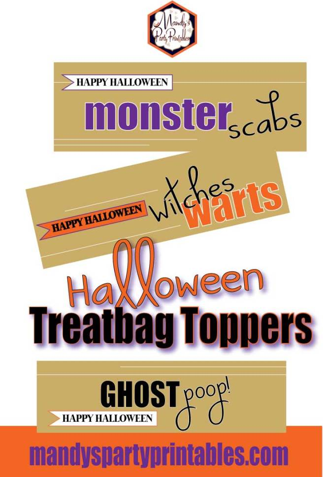 Free Halloween Treatbag Toppers via Mandy's Party Printables