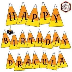 Free Candy Corn Banner via Mandy's Party Printables