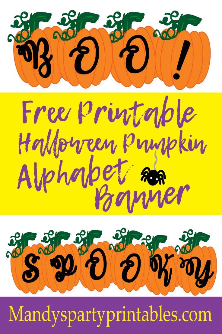Free Printable Pumpkin Banner