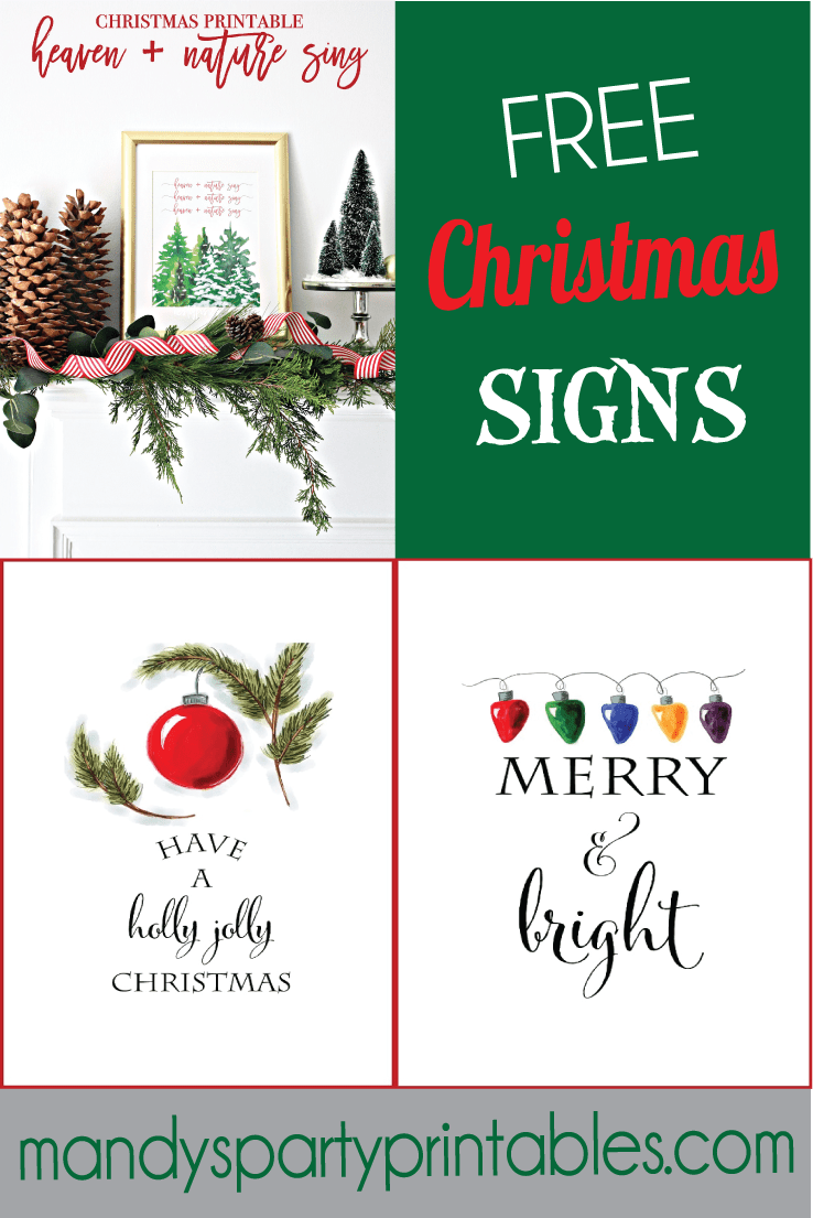graphic about Printable Merry Christmas Sign referred to as No cost Xmas Printable Signs or symptoms Roundup
