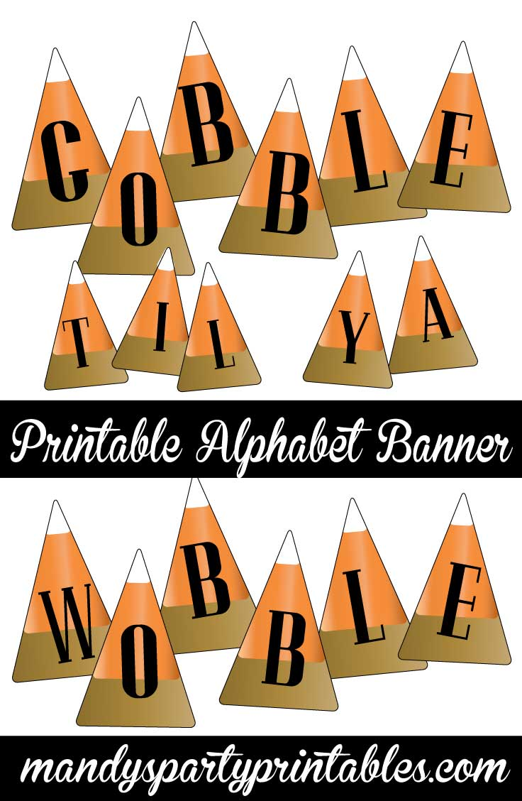 image about Printable Thanksgiving Banner known as Harvest Sweet Corn Thanksgiving Banner