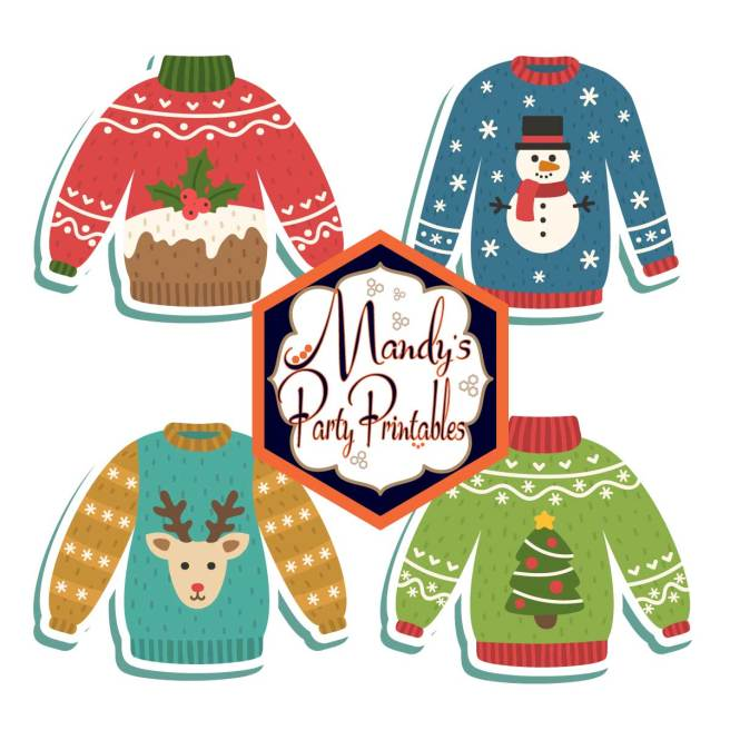 Ugly Sweater Banner from Ugly Sweater Christmas Party Printables via Mandy's Party Printables