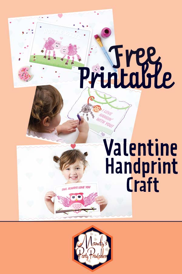 Free Printable Valentine Handprint Craft via Mandy's Party Printables A