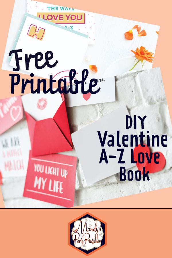 picture relating to Diy Printables named Totally free Alphabet of our Get pleasure from Do-it-yourself Valentine Reserve