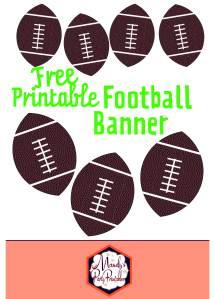 Football banner for boys football party or superbowl party | Mandy's Party Printables