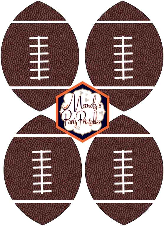 Football banner for boys football party or big game party | Mandy's Party Printables