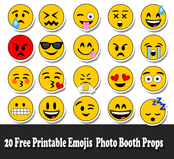image about Printable Emoji Pictures titled Free of charge Emoji Printables Variety
