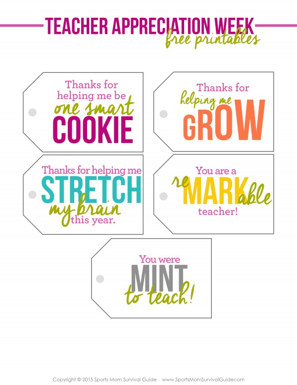 This is a photo of Astounding Free Printable Teacher Appreciation Gift Tags