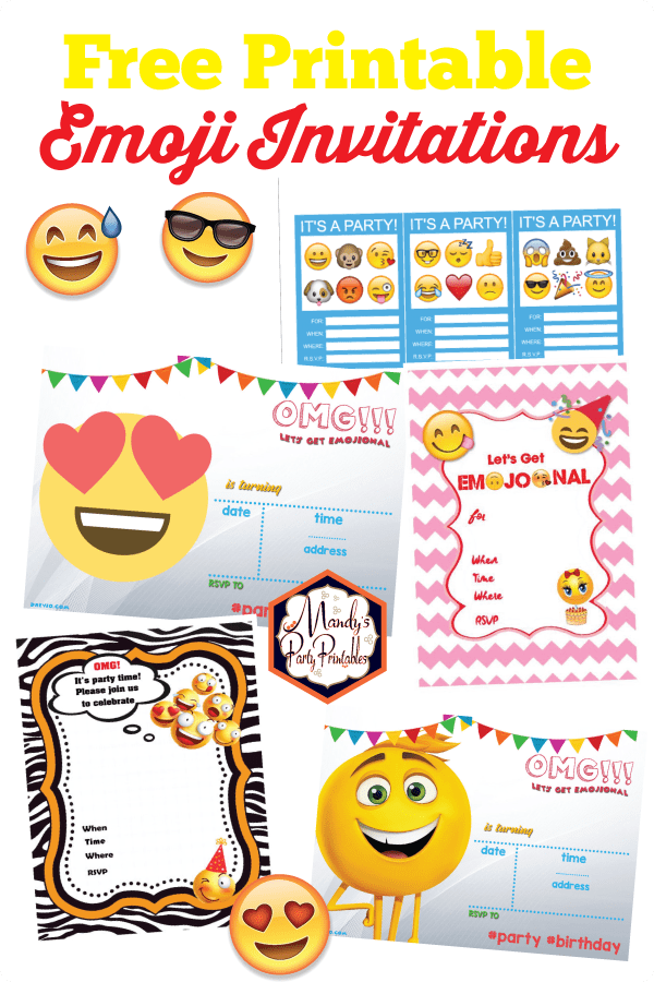 picture relating to Free Printable Emoji B Day Invites identify Printable Emoji Bash Invites