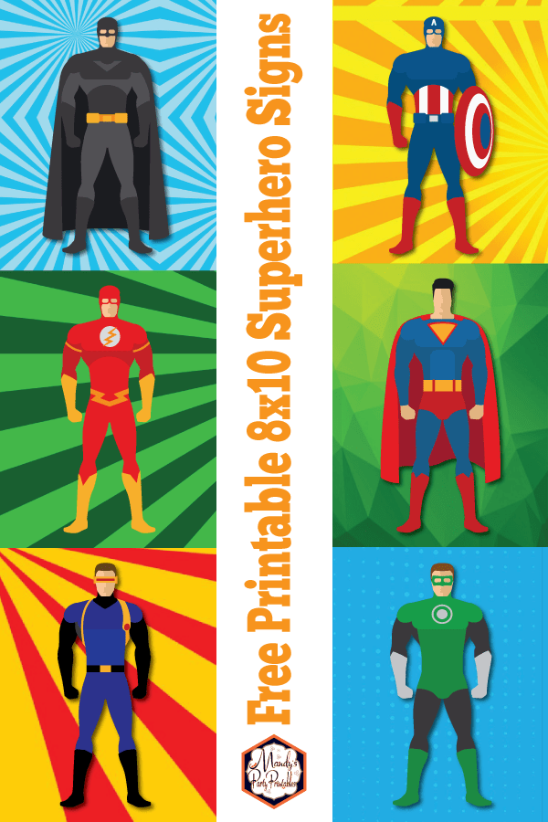 image about Free Superhero Party Printable identify superman birthday Archives
