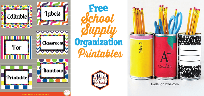 graphic regarding Free Organization Printables referred to as Back again in direction of College Company Printables