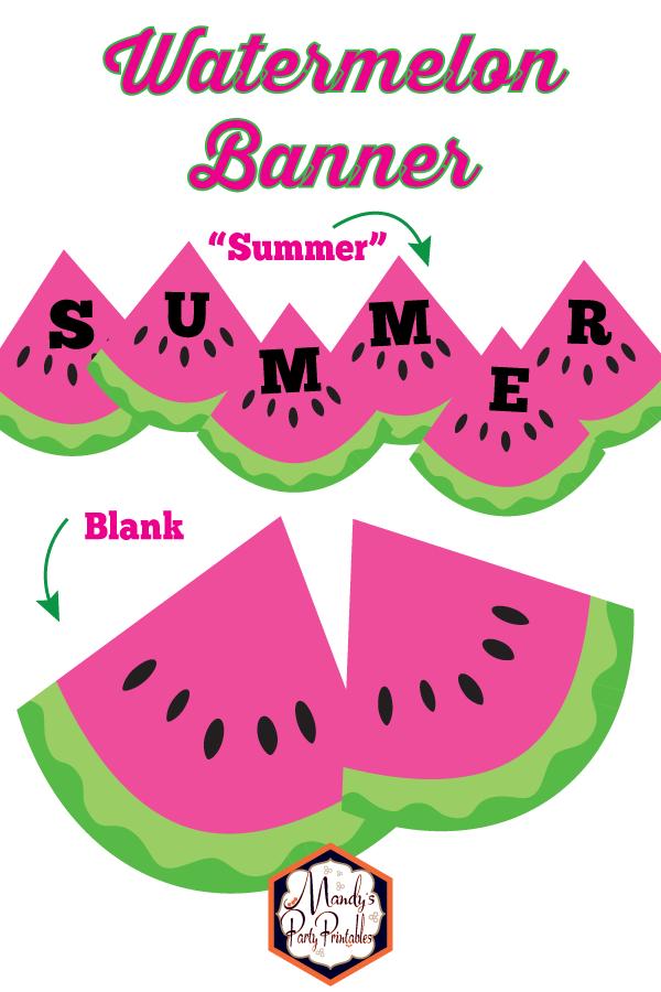 photo regarding Watermelon Printable named No cost Printable Watermelon Banner