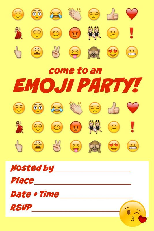 Printable Emoji Party Invitations