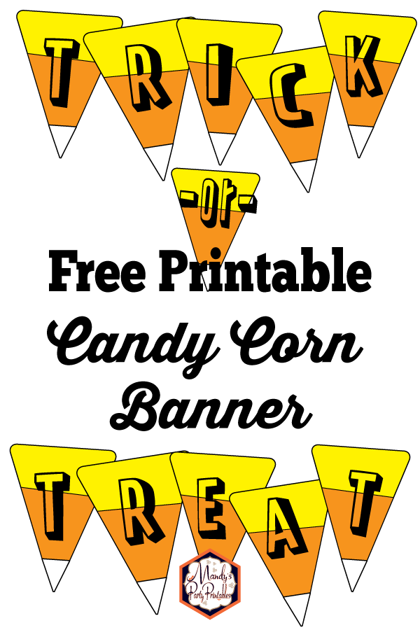 Candy Corn Banner Free Printable