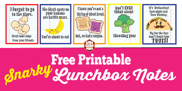 image relating to Printable Lunchbox Notes named printable lunchbox notes Archives