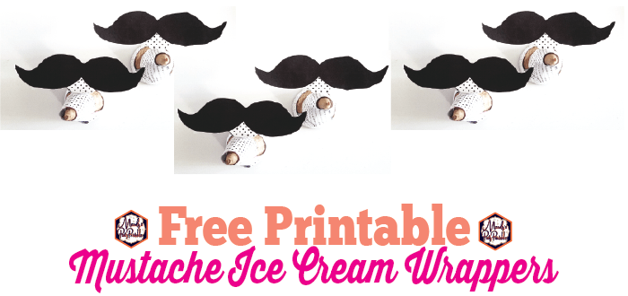 picture about Printable Mustache identified as Totally free Printable Mustache Ice Product Wrappers