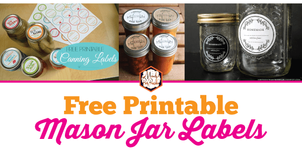 image about Printable Mason Jar Label titled Absolutely free Printable Mason Jar Labels