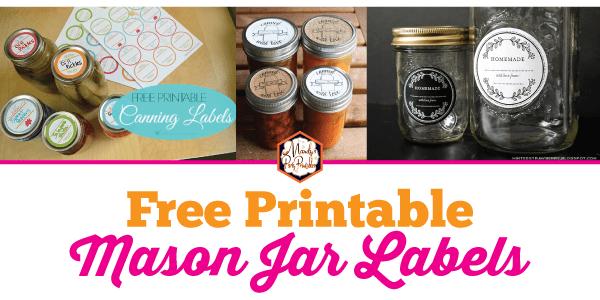 photograph regarding Free Printable Mason Jar Labels referred to as Cost-free Printable Mason Jar Labels