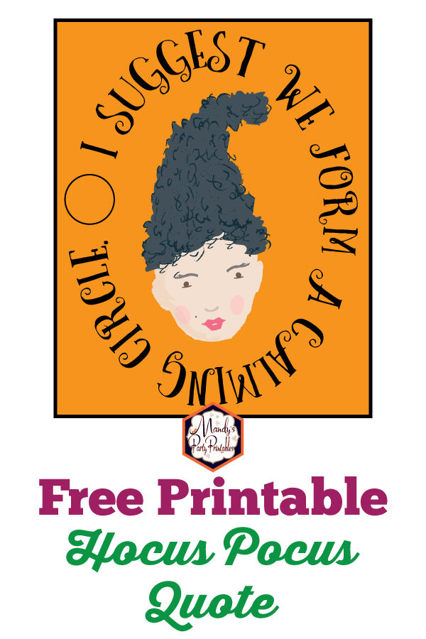 picture relating to Free Anniversary Printables identified as 25th Anniversary Hocus Pocus Printable