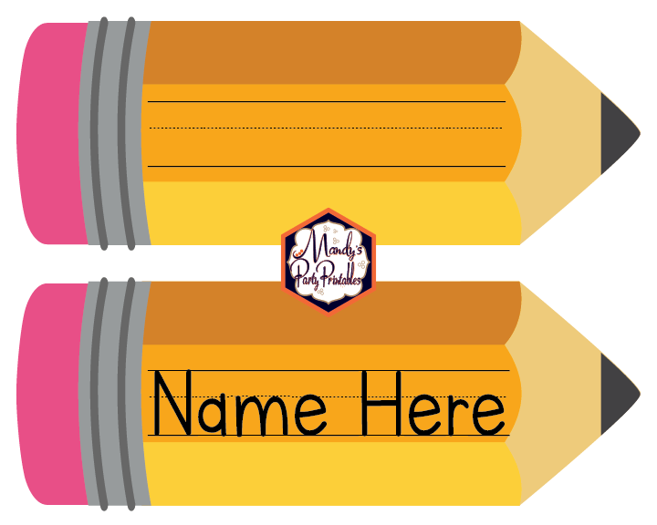 School Name Cards For Students Free Printable