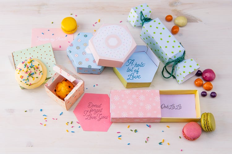 picture regarding Diy Printables referred to as Absolutely free Dessert Box Packaging Do-it-yourself Printable