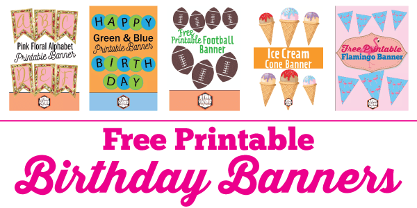 picture about Banner Printable known as Totally free Printable Birthday Banner Recommendations