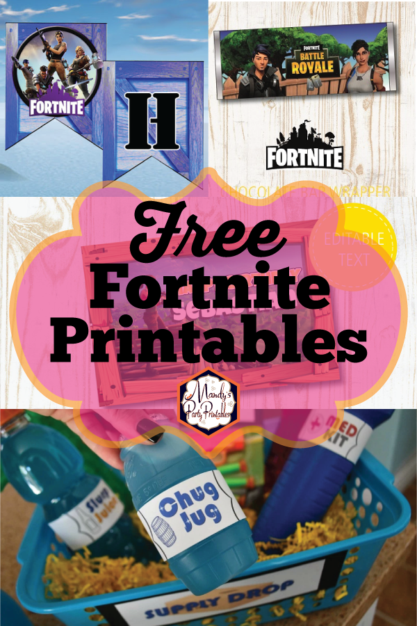graphic relating to Fortnite Printable known as Cost-free Fortnite Social gathering Printables