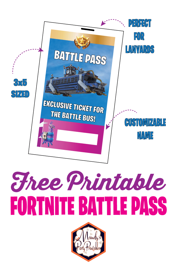 image relating to Printable Fortnite named Absolutely free Printable Fortnite Overcome P Lanyard