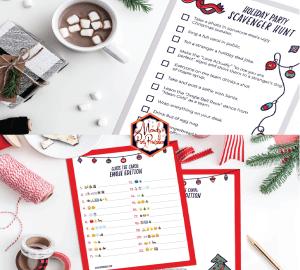 free printable christmas party games