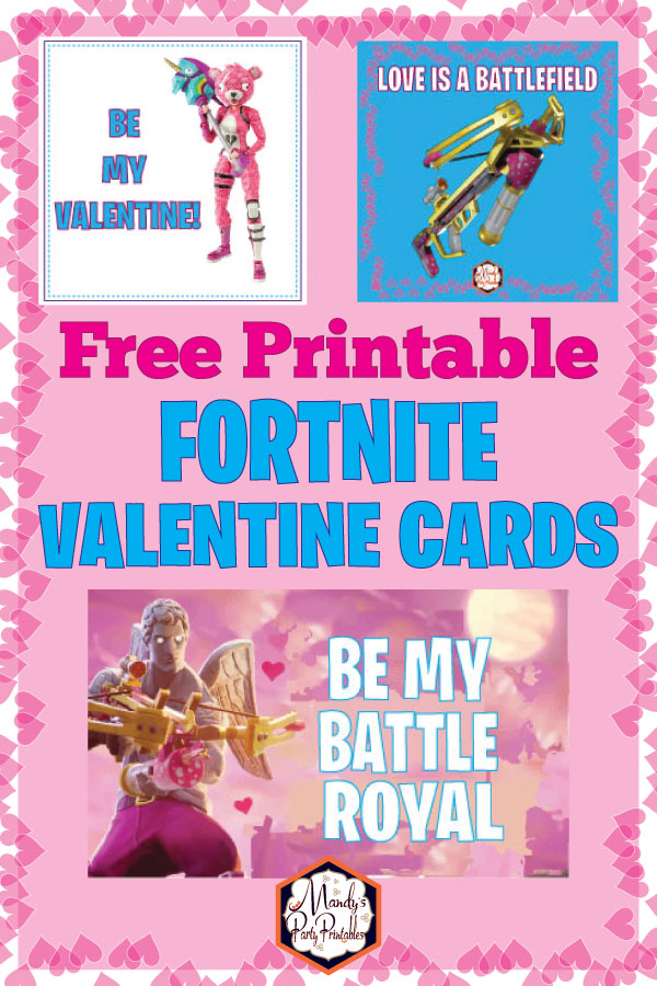 picture relating to Valentines Cards Printable known as Absolutely free Printable Fortnite Valentines Card