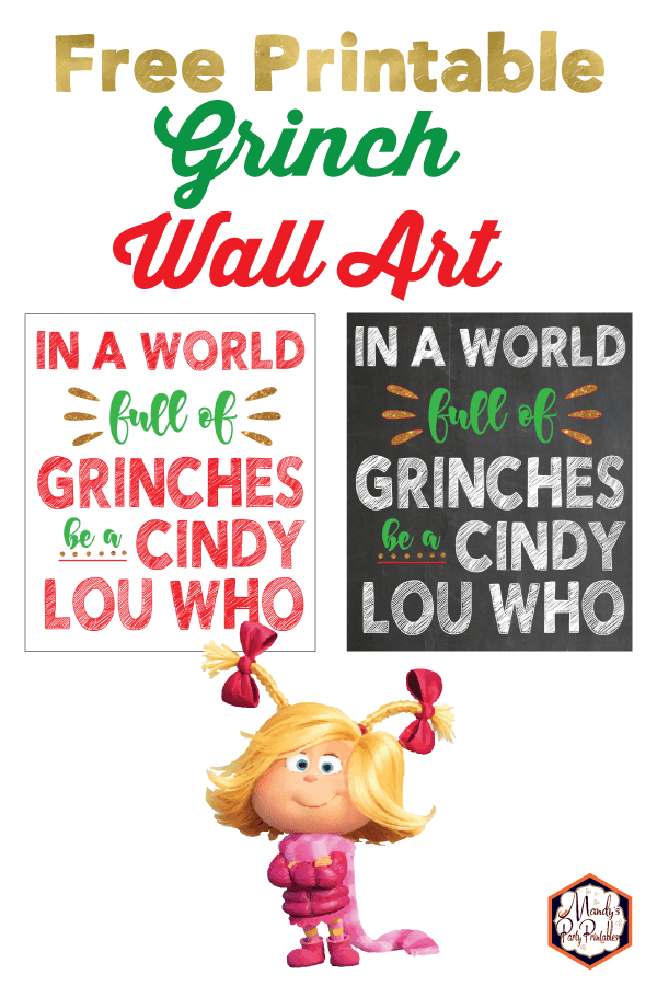 Grinch Quote: Free Christmas Printable Sign | Mandy's ...
