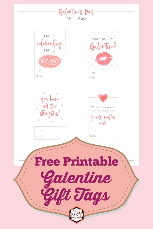 Galentine's Day Printable Gift Tags Free Printable  