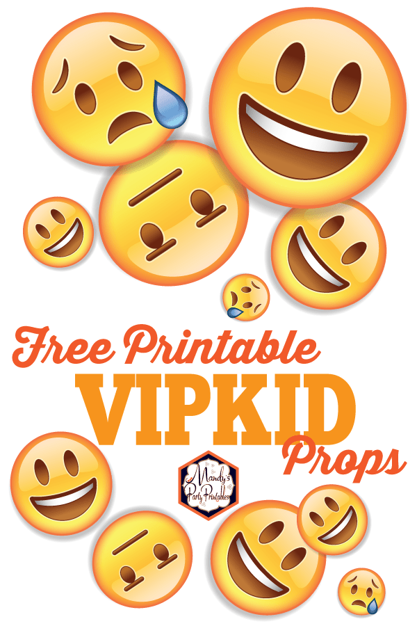 graphic about Emojis Printable named Free of charge Printable VIPKID Emoji Faces