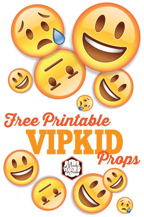 photo regarding Emojis Printable called Totally free Printable VIPKID Emoji Faces