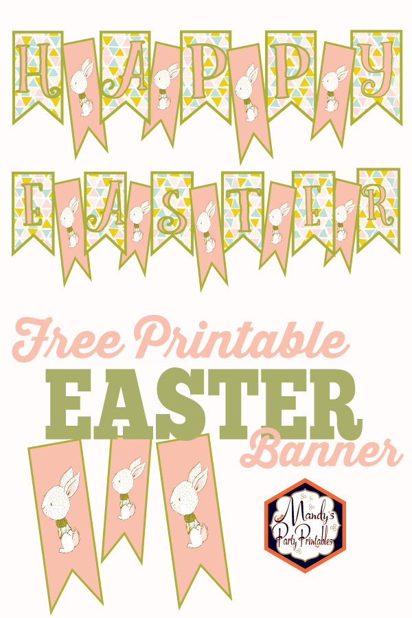 picture relating to Easter Banner Printable called Totally free Printable Easter Banner
