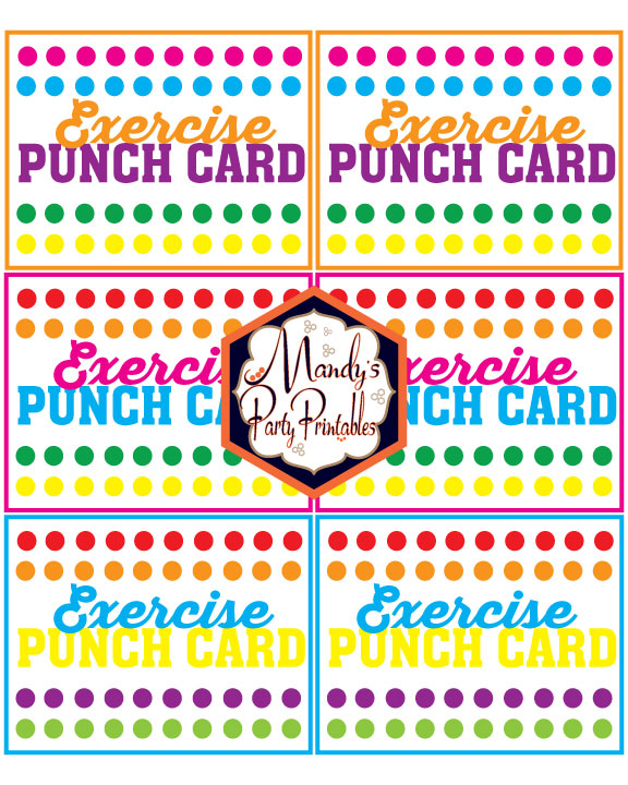 photograph about Printable Exercise Cards identified as Cost-free Printable Summertime Punch Playing cards