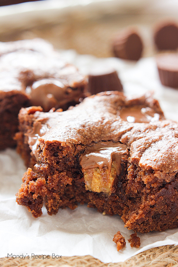 Lunch Lady Peanut Butter Brownies {Mandy's Recipe Box}