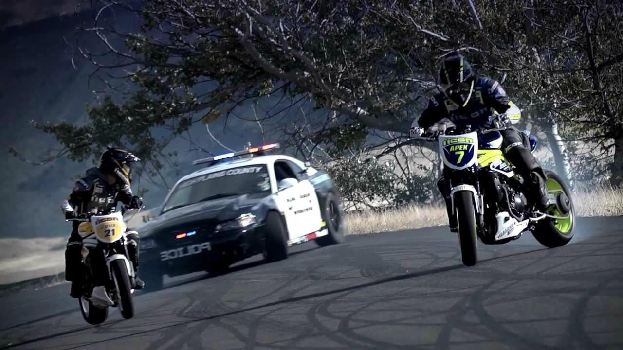 Police Car Chasing Motorcycle