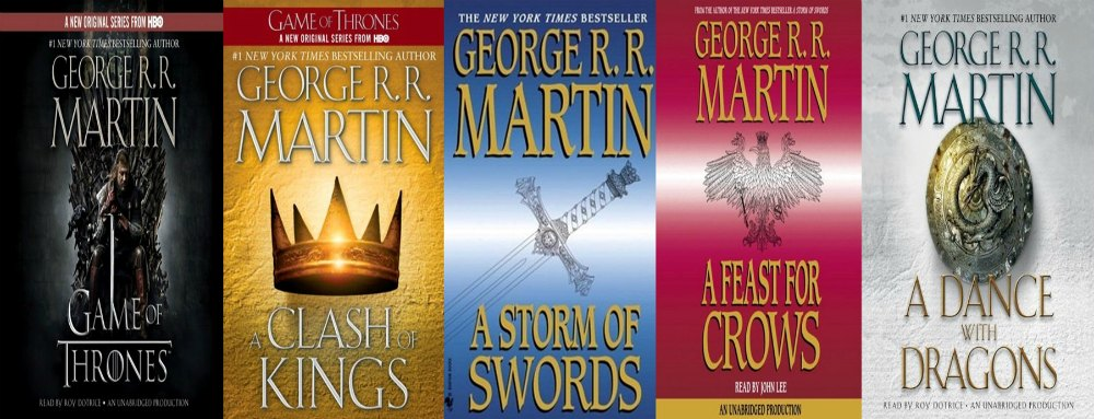 Book Covers: The Song of Ice and Fire Series by George RR Martin