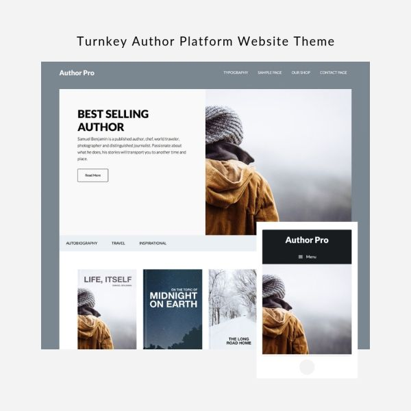 Author Platform Website Theme