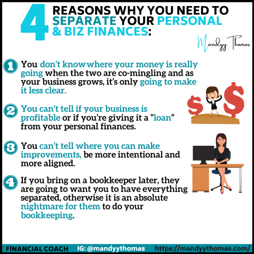 Why you need to separate and business and personal funds
