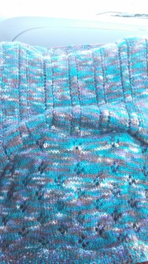 Still missing the right lighting to capture this Ducky colourway lace on the road