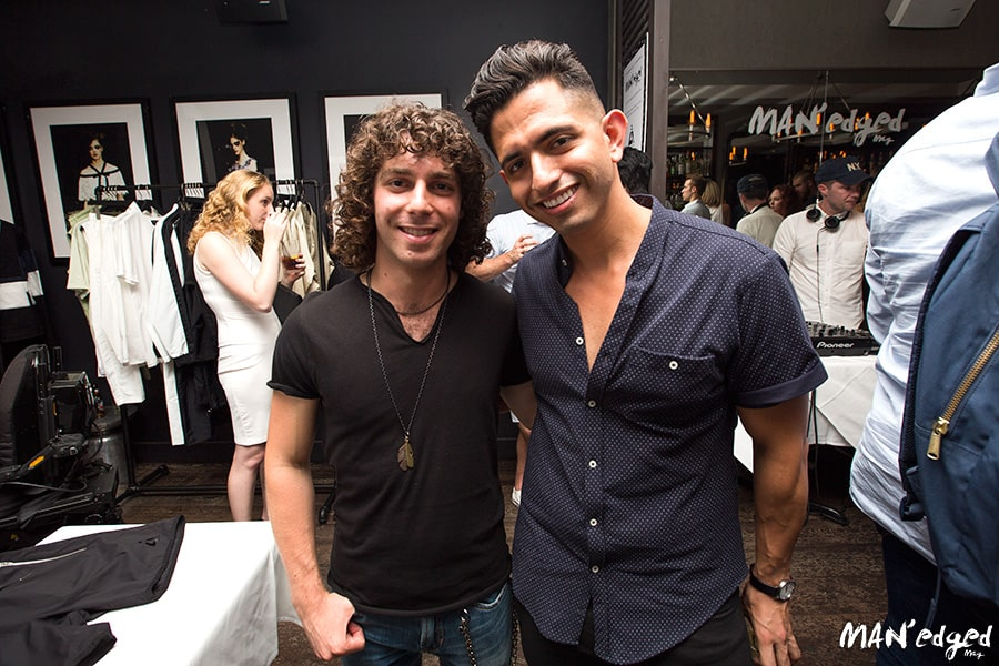 Music Artist Josh Taerk on left pictured with MAN'edged Magazine Founder Michael William G in New York City