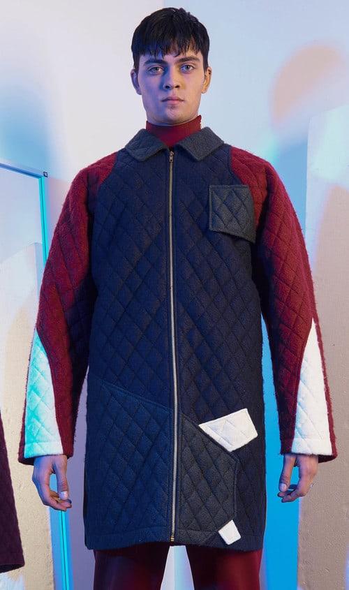 Wood house menswear designer quilted men's coat