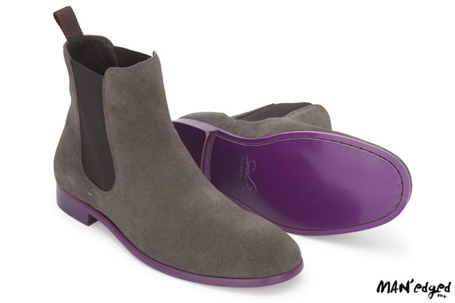Gray men's chelsea boots by soul 36
